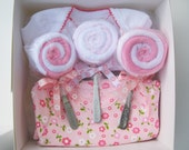 Baby Shower Gift - The Riley - Onesies - Washcloth Lollipops