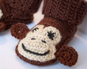 Monkey Slippers/Booties--Made to Order