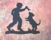 4 Boy and his Dog Silhouette Die Cuts