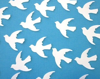 150 White Dove die cuts