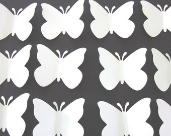 100 Large White  Butterfly  die cuts