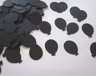 100 Over the Hill black balloon die cuts