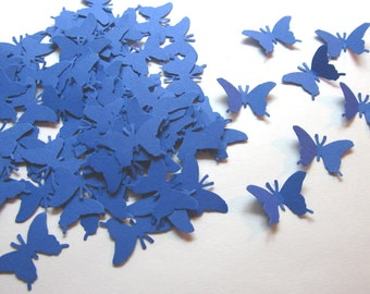 100 Royal Blue  Butterfly Die Cuts