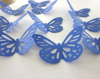 Royal Blue  Lace  Butterfly Die Cuts