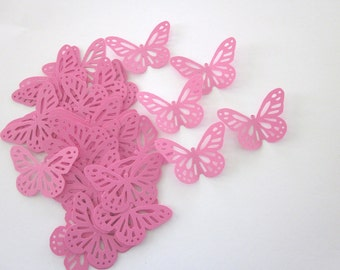 Pink  Lace  Butterfly Die Cuts
