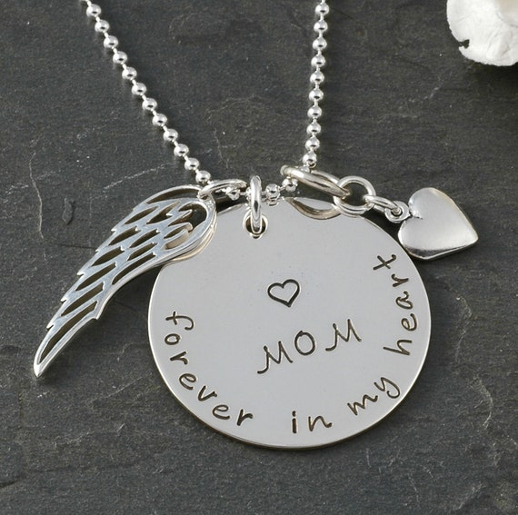 in remembrance necklace in memory of mom by littleangelsmemory