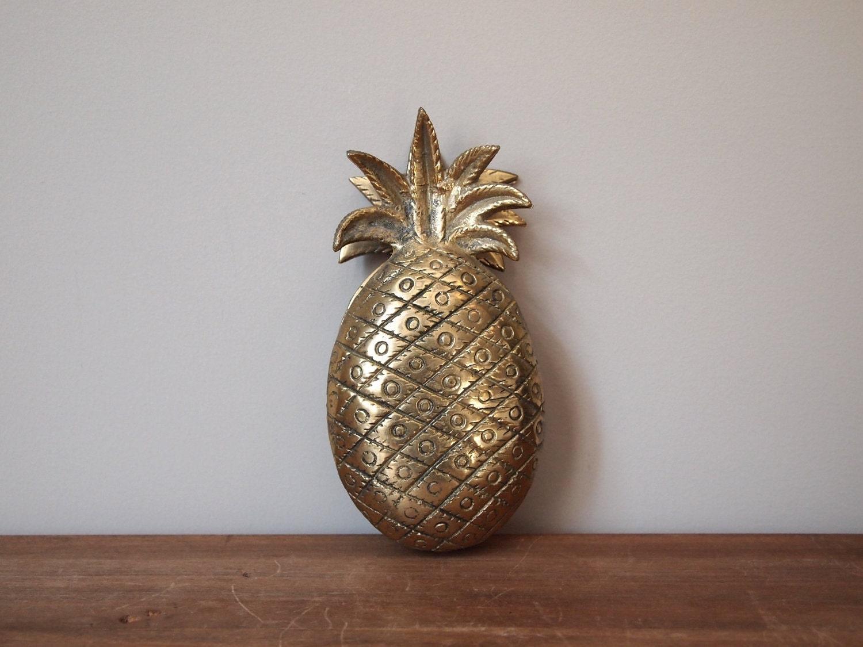 Vintage brass pineapple door knocker - Vintage brass door knocker ...