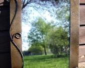 Metal Mirror, Rustic style 28 1/2in X 20in