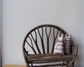 Twig Bench Miniature, Wood Doll Furniture, or for Decor,  Natural Sticks, Sturdy and Adorable. Cats Included.