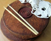 Bone Crochet Hook and Celluloid Crochet Hook Both Marked, Ivory Color Both One Price