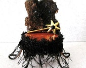 Miniature Gothic Witch Throne Chair: Spider Web, Magic Wand