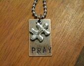 Autism Awareness Cross Puzzle Necklace
