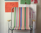 vintage candy striped childrens folding beach chair