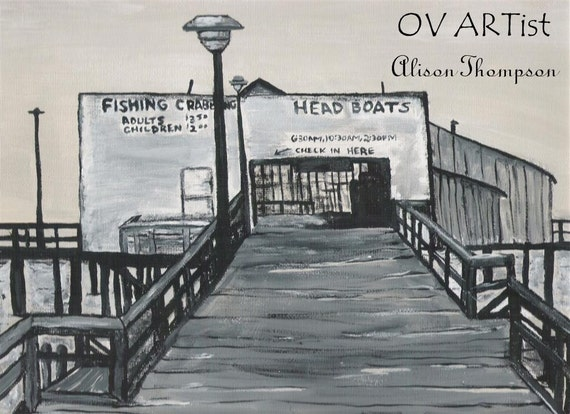 Items similar to harrison 39 s fishing pier 8 x 10 signed for Harrison fishing pier