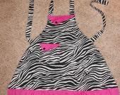 Kids Zebra Apron