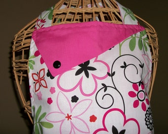 Pink and Red Flowers Apron