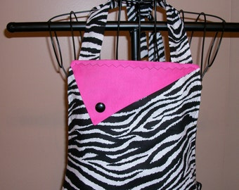 Zebra and Hot Pink Apron