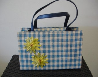 Great Checkered Flower Vintage Purse