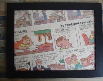 Vintage Authentic Comic Strip