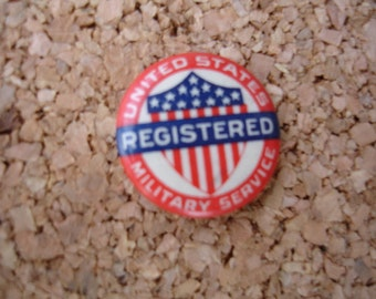 Awesome small military voter pinback button