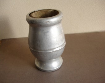 Vintage aluminum vase