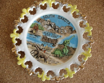 Vintage South Dakota Souvenir Plate