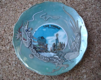 Small Vintage Collectable Old Las Vegas Souvenir Plate