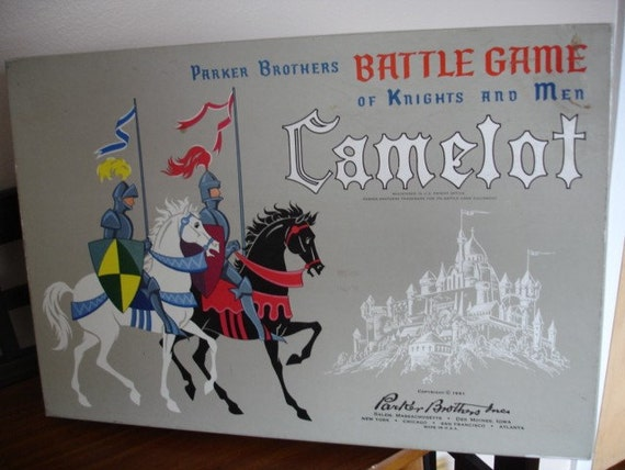 Parker Brothers Camelot Board Game-1961