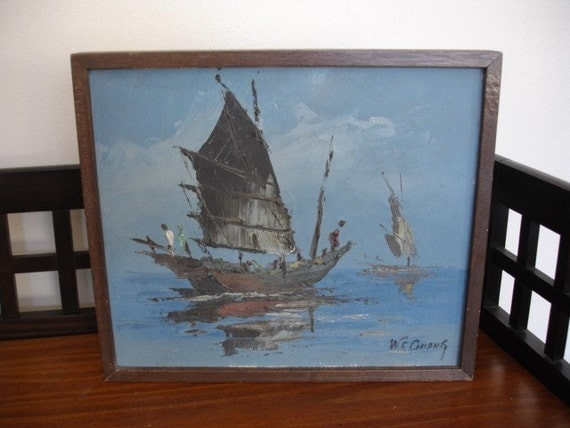 Original Oil Painting By W S Chiang By Vintageurbanantiques