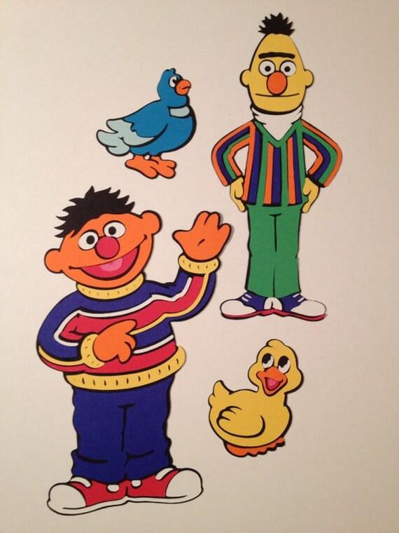 Bert and Ernie Die Cuts