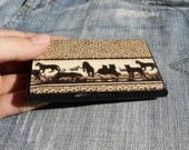 business card holder and display panther leopard safari gift for him or her unisex unique present for christmas 20% OFF Black Friday Cyber