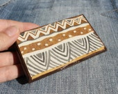 ethnic business card holder and display gift for him or for her made of durable woodBlack Friday Cyber Monday