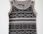 Tribal Child tank top with a geometric design size 1-2