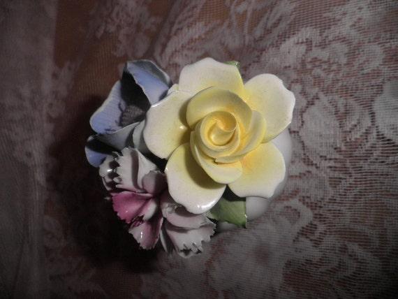 Porcelain flower arrangement  English  Bone china  staffordshire  Princess Collection