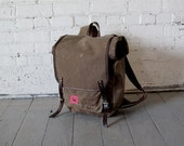 Waxed Canvas Backpack--PVC FREE