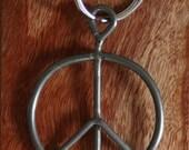 Original authentic Woodstock Festival Concert Fence Peace Pendant Key Chain