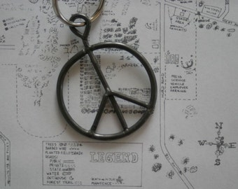 1969 Woodstock Festival Concert fence Peace sign Key Chain not ticket