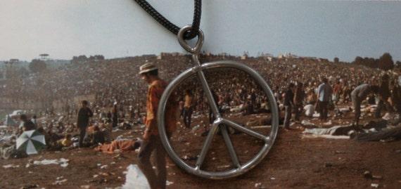Vintage 1969 Original Woodstock fence peace sign Necklace Joe Cocker