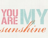 You Are My Sunshine Printable Graphic -- Gridded Background
