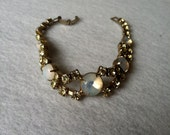 Rhinestone Opal Bracelet Faux Vintage Free Shipping