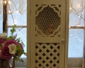 Cottage Chic White  Wood Shelf-Shabby-Wall Decor-Housewares-Home Decor-Storage