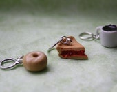Stitchmarkers - I plan on writing an epic poem about this gorgeous pie - Twin Peaks Stitch Markers