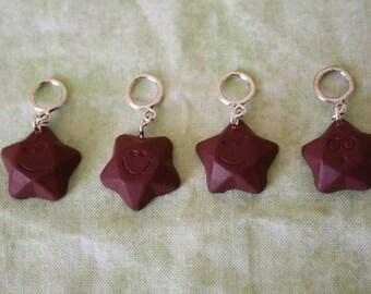 Stitchmarkers - Chocolate Stars - Stitch Markers