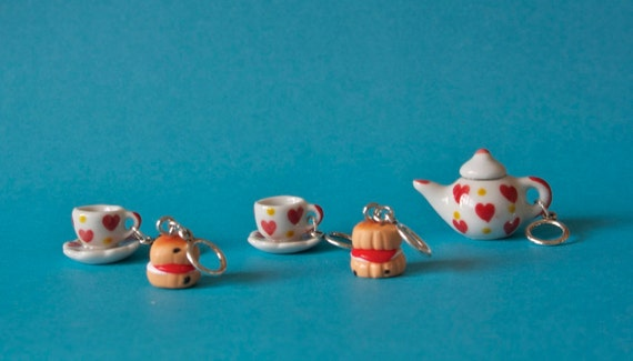Stitchmarkers - Tea For Two - Hearts - Stitch Markers