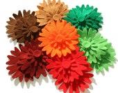 Felt Flower Shapes VII AUTUMN Set of 42 pieces