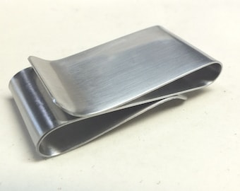 Mens Double Sided Sterling Silver Money Clip--- S Shape Your Choice Of Texture