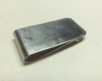 Stainless Steel  Money Clip---Heavy Texture