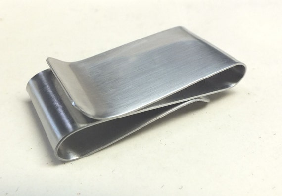 Mens Double Sided Stainless Steel  Money Clip--- S Shape Your Choice Of Texture