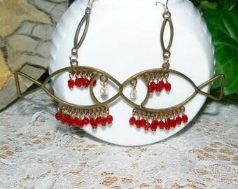 Vintage Fish Earrings