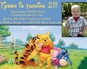 Winnie the Pooh - Boy/Girl Birthday Invite - 5x7 Printable File